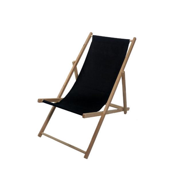 Liegestuhl schwarz